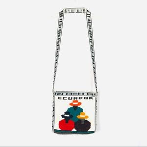 Ecuador boho canvas woven soft crossbody bag